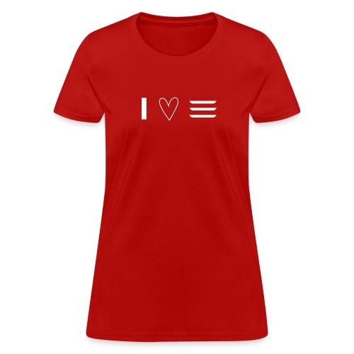 I <3 my car - Women's T-Shirt