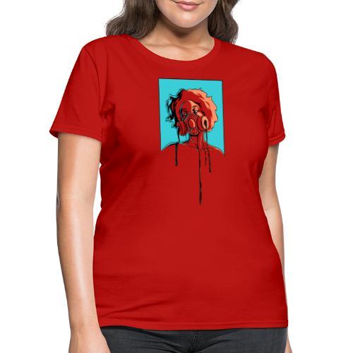 Toxic: aqua, orange - Women's T-Shirt