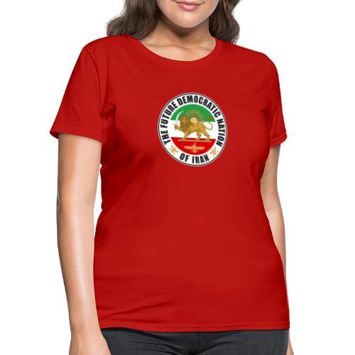 Iran Emblem Old Flag With Lion - Women's T-Shirt