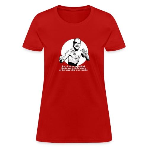 schneier10 martial white - Women's T-Shirt