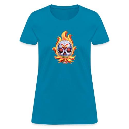 DoD Flame Skull by RollinLow - Women's T-Shirt