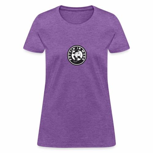 Solid Puttin' In Work Logo - Women's T-Shirt