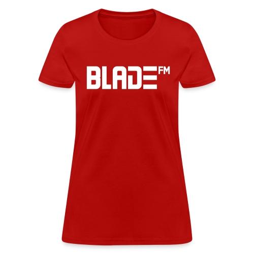 White BladeFM Logo - Women's T-Shirt