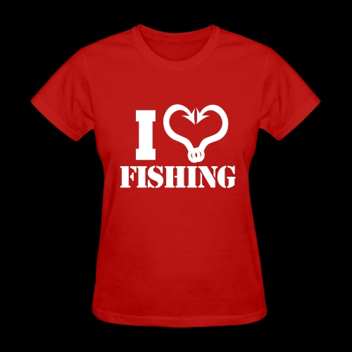 02 I heart fishing copy - Women's T-Shirt