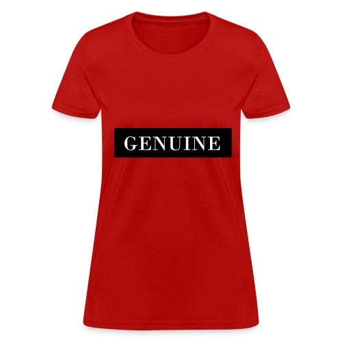 GENUINE Black Out - Women's T-Shirt