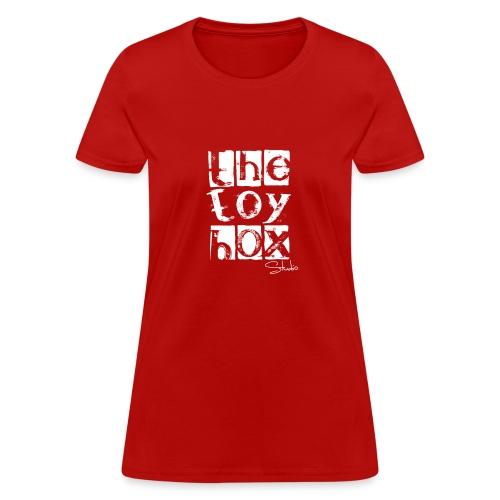 The Toy box Studio - White Logo - Women's T-Shirt