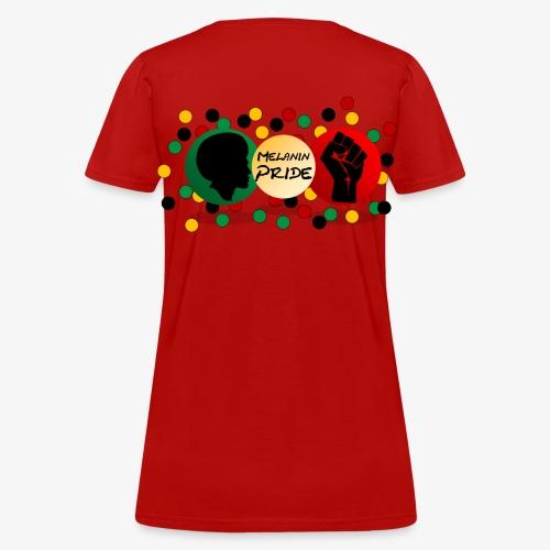 Melanin Pride Logo with dots - Women's T-Shirt