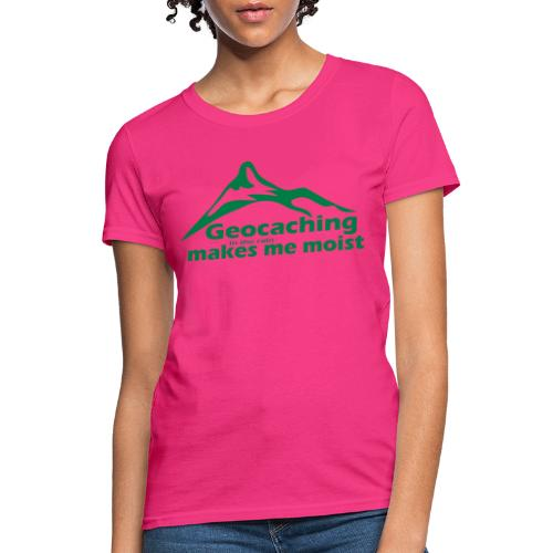 Geocaching in the Rain - Women's T-Shirt