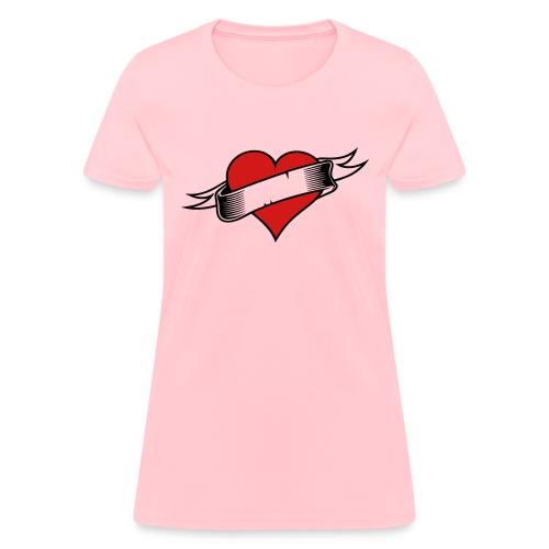 Custom Love Heart Tattoo - Women's T-Shirt
