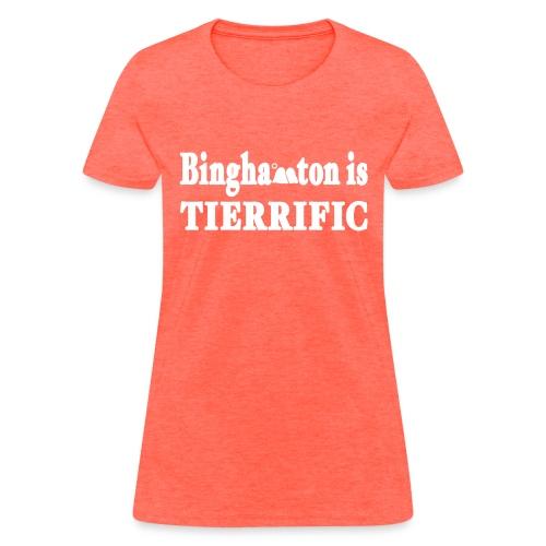 New York Old School Binghamton is Tierrific Shirt - Women's T-Shirt
