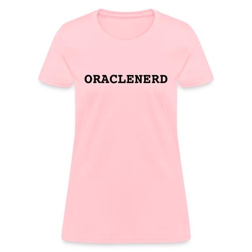 oraclenerd black full - Women's T-Shirt