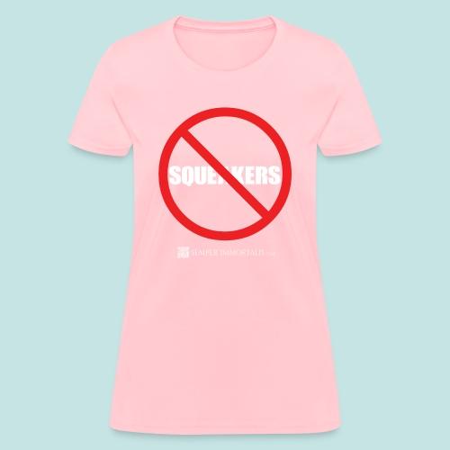 No Squeakers (white) - Women's T-Shirt
