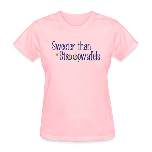 Stroopwafels blue lettering - Women's T-Shirt