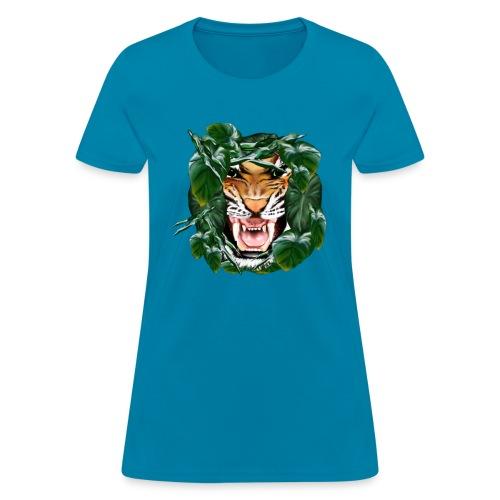 Tiger thru the leaves - Women's T-Shirt