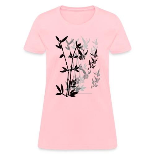 Butterflies n Bamboo-tran - Women's T-Shirt