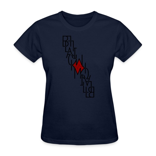 Downside up black - Women's T-Shirt