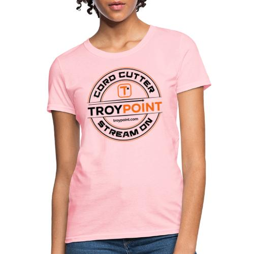 TROYPOINT Cord Cutter - Navy Logo - Women's T-Shirt