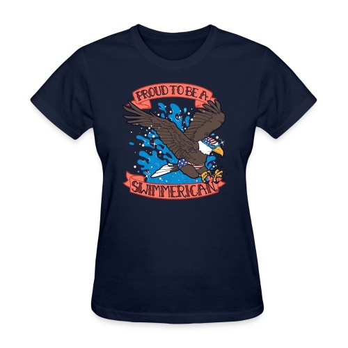 Proud To Be A Swimmerican - Women's T-Shirt