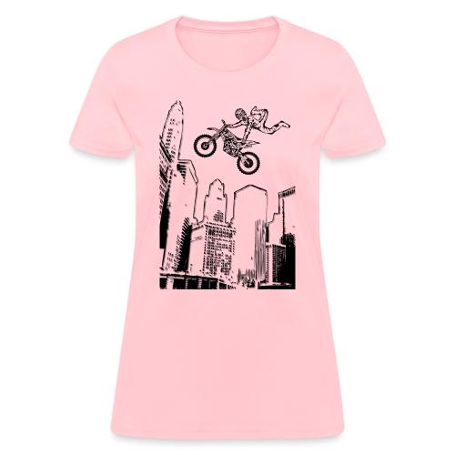 Dirt Biking City-Scraper - Women's T-Shirt