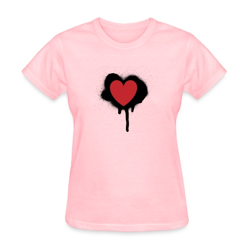 painted heart valentines day design - Women's T-Shirt