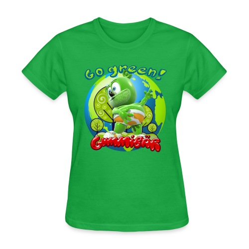 Gummibär Go Green Earth Day Earth - Women's T-Shirt