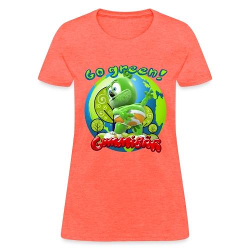 Gummibär Go Green Earth Day Earth - Women's T-Shirt