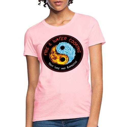 Fire & Water Cooking Full Sized Logo - Women's T-Shirt