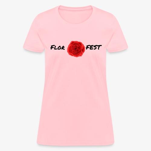 flor fest | black text - Women's T-Shirt