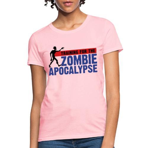 Zombie Apocalypse Gym Motivation - Women's T-Shirt