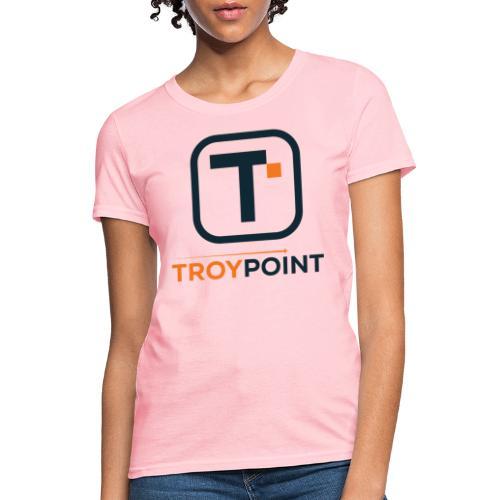 TROYPOINT Navy Logo - Women's T-Shirt