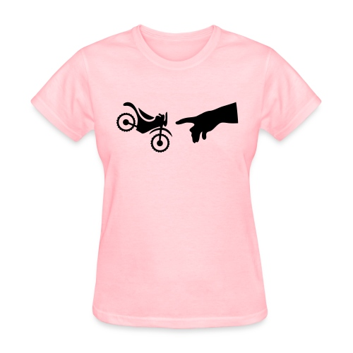 The hand of god brakes a motorcycle as an allegory - Women's T-Shirt