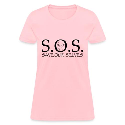 SOS Black on Black - Women's T-Shirt