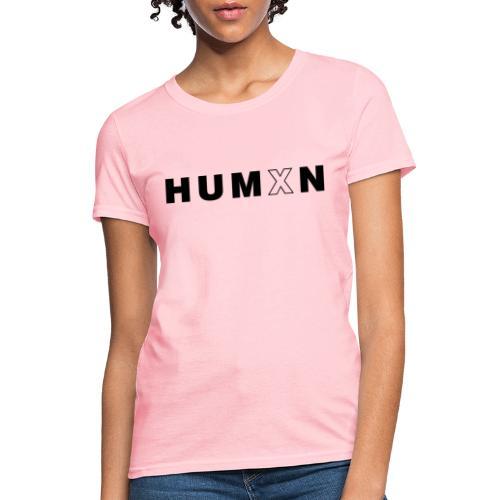 Humxn Text Logo(Black) - Women's T-Shirt