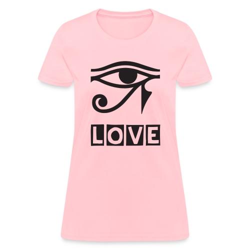 EYE LOVE DSGN TRNSP - Women's T-Shirt