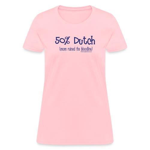Bloodline Mom blue lettering - Women's T-Shirt