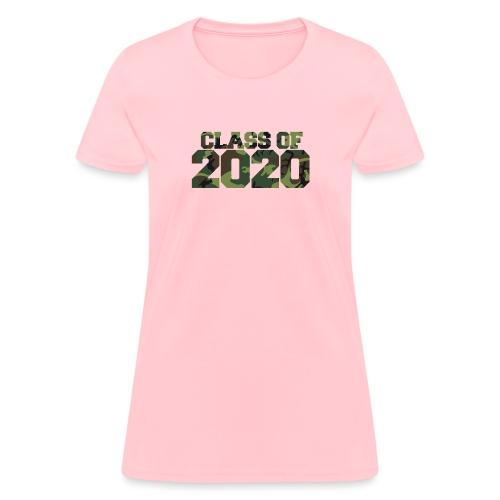 Class of 2020 Camo grad logo - Women's T-Shirt
