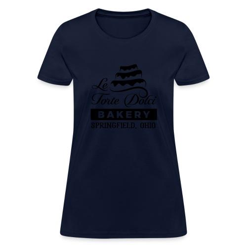 Le Torte Dolci Logo Solid Black Ink Version - Women's T-Shirt