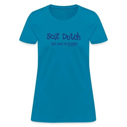 Bloodline Dad blue lettering - Women's T-Shirt