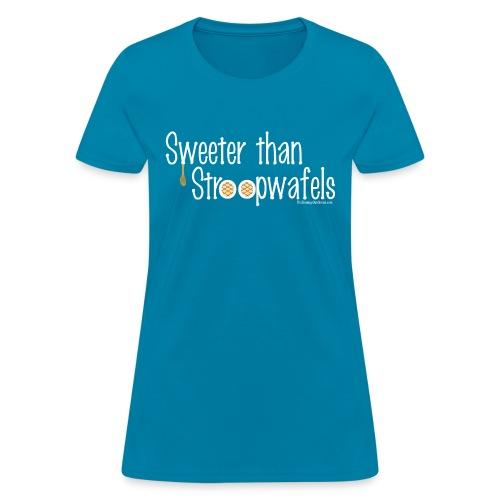 Stroopwafles white lettering - Women's T-Shirt