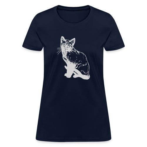 grey siamese png - Women's T-Shirt