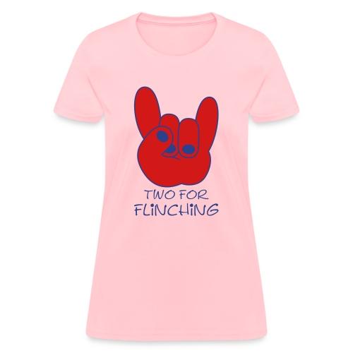 Two For Flinching Logo - Women's T-Shirt