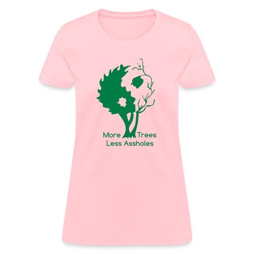 in tree black text - Women's T-Shirt