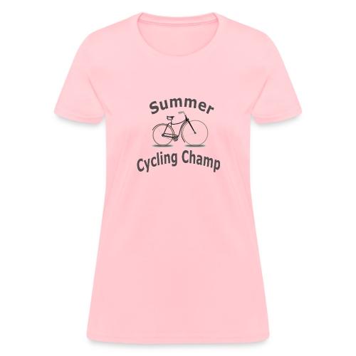 Summer Cycling Champ - Women's T-Shirt