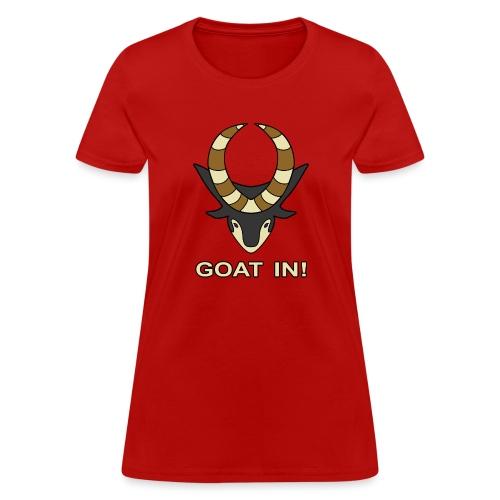 goat in text - Women's T-Shirt