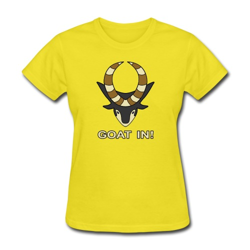 goat in text - Women's T-Shirt