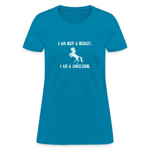 unicorn tall white - Women's T-Shirt