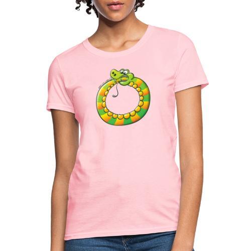 Crazy Snake Biting its own Tail - Women's T-Shirt