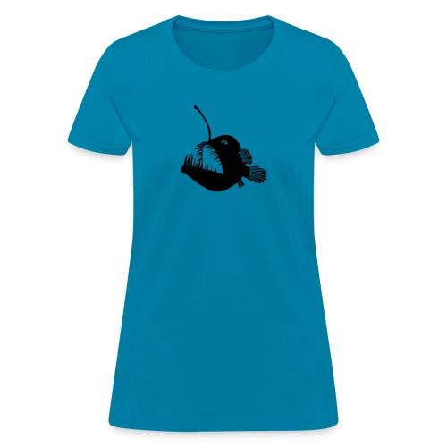 anglerfish frogfish sea devil deep sea angler - Women's T-Shirt