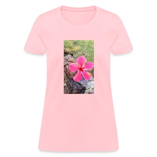Pink Beach Flower - Women's T-Shirt