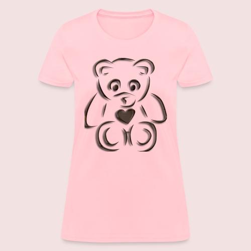 realistic teddy - Women's T-Shirt